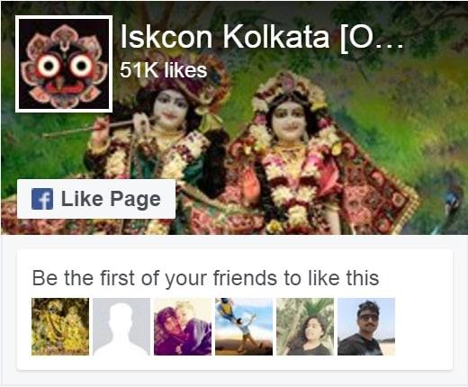 ISKCON Kolkata Facebook Page